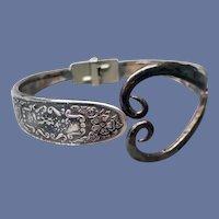 Unusual Clamper Bracelet Handmade from Vintage Silverware