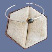 Simple Bracelet Solitaire Art Glass Setting Small Medium