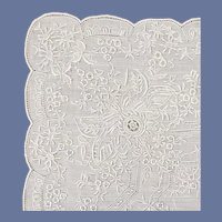 Vintage Wedding Handkerchief Appenzell Embroidery