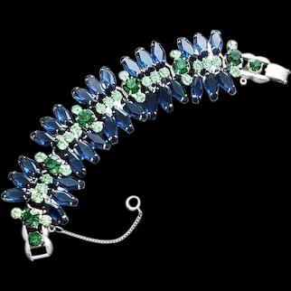 D&E Juliana Vintage Hexagon Rhinestone Bracelet 5 Link Beauty