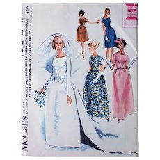 Chic Wedding Dress Sewing Pattern Bust 31.5 Uncut Mint