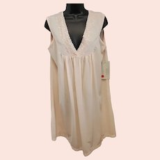 Peach Nylon Nightgown Vintage Mint With Tags Size Large