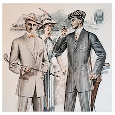 Men's Golf Clothing 1913 Antique Catalog Advertising Page