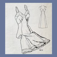 Early 1950s Sewing Pattern Full Length Slip and Tap Pants Panties