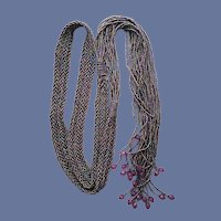 Beaded Belt or Extra Long Necklace Art Deco Style
