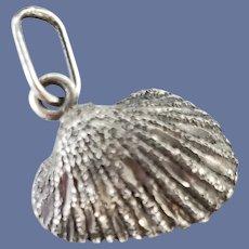 Sterling Silver Seashell Charm for Bracelet .925