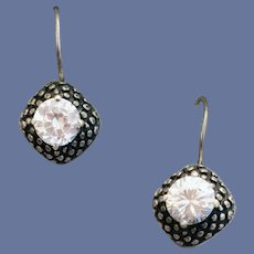 Stunning Sterling Silver Pierced Earrings with Superb CZ Settings