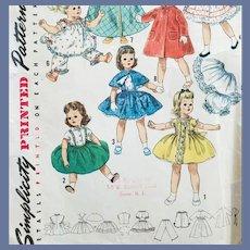 "1950s Doll Wardrobe Sewing Pattern 15"" Doll Sweet Sue Binnie"