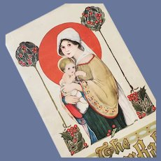 The Manger Babe 1916 Children's Christmas Book Art Nouveau