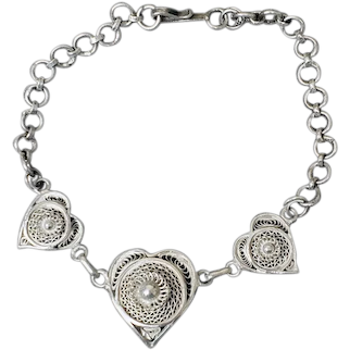 Exquisite Cannetille Bracelet Intricate Filigree Mint Condition