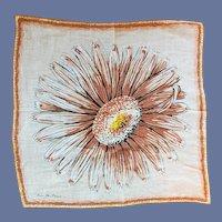 Designer Ann McCann Handkerchief Sun Flower Print MCM