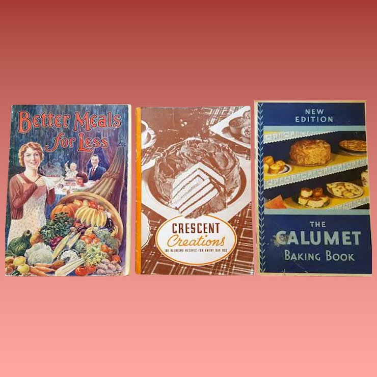 3 cookbooks 1930s advertising booklets 100 s of vintage recipes