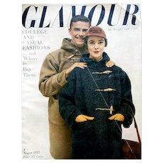 Glamour Fashion Magazine August 1950 Clothing Jewelry Schiaparelli Ad