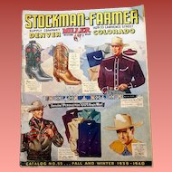 Western Clothing Catalog 1939- 1940 Cowboy Boots Levi Stauss Stetson