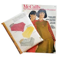 Vintage 1960s McCall's Sewing Magazine and Bedspread Sewing Pattern