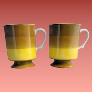 1960s Holt Howard Pedestal Coffee Cups Mugs