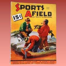 1936 Men's Magazine Sports Afield Hunting Fishing Camping
