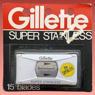 Vintage Gillette Razor Blades Original Packaging 15 Blades