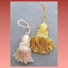 Two Vintage Tassels Pink and Gold New / Old Stock Mint