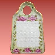 Vintage Hand Painted Porcelain Lemon Zester / Grater Pink Roses Kitchen Vanity
