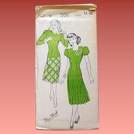 1940s Swing Dress Sewing Pattern Uncut Bust 32 Size Small