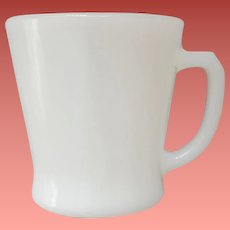 White Anchor Hocking Fire King Coffee Mug Cup D Handle