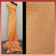 Vintage Cotton Sewing Fabric 4 + yards Soft Pumpkin Pique 1940s - 1950s