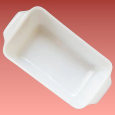 Fire King Anchor Hocking White Glass USA Loaf Pan Bread or Meat Loaf