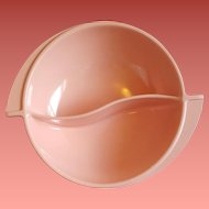 Vintage 1960s Pink Serving Bowl Boonton Mid Century Design