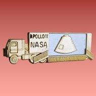 Apollo 11 Tie Clasp 1969 NASA Commemorative Clip