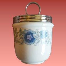 Wedgwood Porcelain Egg Coddler Clementine Pattern