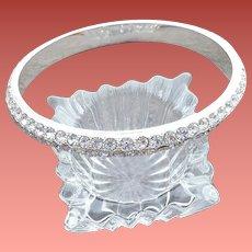 Superb Rhinestone Studded Bangle Bracelet