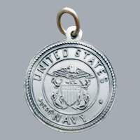 Sterling US Navy with Saint Christopher Charm 2.5 Grams