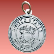 US Navy Bracelet Charm Saint Christopher 2.5 Grams