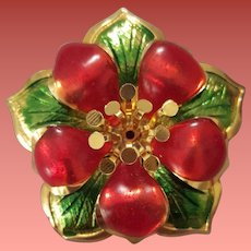 Your Christmas Flower Brooch Holiday Jewelry