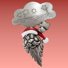 Hilarious Santa Claus Brooch Comical Christmas Vacation
