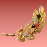 Gemstone Brooch Onyx Carnelian and More