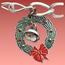 Sterling Silver Bracelet Christmas Charm MIB