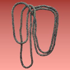 Extra Long Carnival Bead Rope Necklace Flapper Style