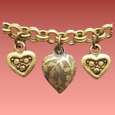 Embossed Heart Charm Necklace Fluid Beauty