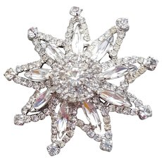 Large Rhinestone Star Brooch with Special Sparkle