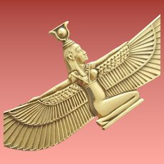 Egyptian Goddess Isis Gold Tone Minty