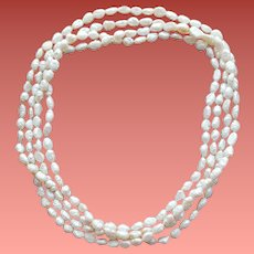 Freshwater Cultured Pearl Necklace Extra Long 72 inches