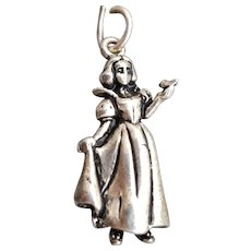 Disney Snow White Sterling Silver Bracelet Charm
