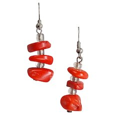 Red Coral Earrings Pierced and Gorgeous