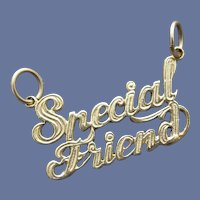 14K Yellow Gold Pendant Special Friend 14 K