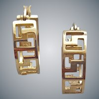 Sterling Silver Gold Vermeil Pierced Earrings
