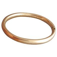 Gold Plated Bangle Bracelet Late Victorian Era Art Nouveau