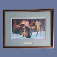 "Arnold Friberg ""Prayer At Valley Forge"" Framed Print"