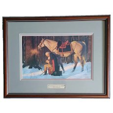 "Arnold Friberg ""Prayer At Valley Forge"" Framed Print"